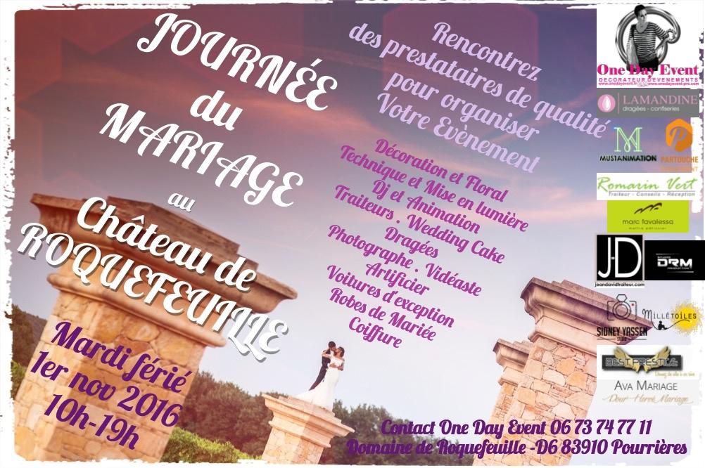 Journée du mariage au château de roquefeuille